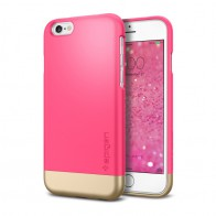 Spigen Style Armor Case iPhone 6 Pink/Clear - 1