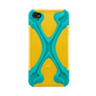 SwitchEasy Rebel X iPhone 4(S) Yellow/blue - 1