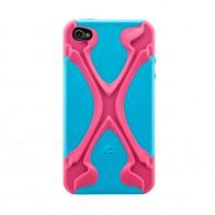 SwitchEasy Rebel X Pink/blue iPhone 4(S) - 1