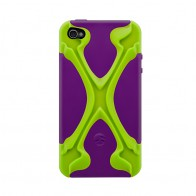 SwitchEasy Rebel X iPhone 4(S) Lime/purple - 1