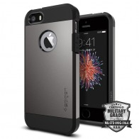 Spigen Tough Armor Case iPhone SE / 5S / 5 Gunmetal - 4