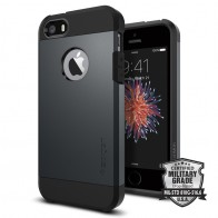 Spigen Tough Armor Case iPhone SE / 5S / 5 Slate Metal - 4