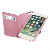 Tucano 2-in-1 Wallet Case iPhone 7 Pink - 1