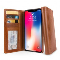 Twelve South Journal iPhone XS Max Hoesje Bruin Leer 01