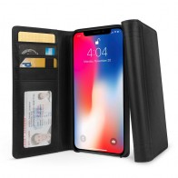 Twelve South Journal iPhone XS Max Hoesje Zwart Leer 01