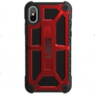 UAG Monarch iPhone X Hoesje Crimson Red / Black 01