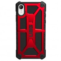 UAG Monarch iPhone XR Hoes Rood Zwart 01