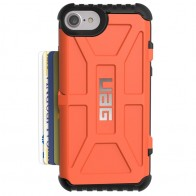 UAG - Trooper iPhone 6 / 6S / 7 hoesje met pasjes Rust Orange 01