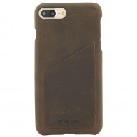 Valenta - Back Cover Classic Luxe iPhone 8 Plus/7 Plus vintage brown 01