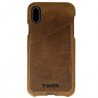 Valenta Back Cover Classic Luxe iPhone X Vintage Brown - 1