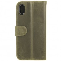 Valena Booklet Classic Luxe iPhone X Vintage Green - 1