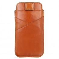 Valenta Pocket Premium iPhone XR Sleeve Bruin - 1