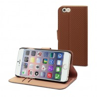 Muvit Wallet Case iPhone 6 Plus Brown - 1