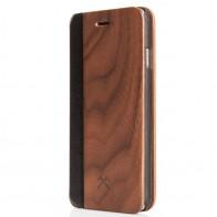Woodcessories - EcoCase FlipCover iPhone 7 Plus Walnoot 01