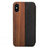 Woodcessories EcoFlip Case iPhone XS Walnut - 1