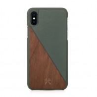 Woodcessories EcoSplit  iPhone X/Xs Walnut/Green - 1