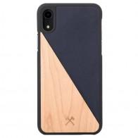 Woodcessories EcoSplit iPhone XR Hoesje Hout Esdoorn Blauw 01