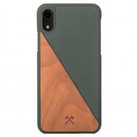 Woodcessories EcoSplit iPhone XR Hoesje Hout Kersen Groen 01