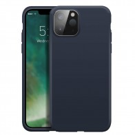 Xqisit Silicone Case iPhone 12 Pro Max 6.7 inch Blauw 01