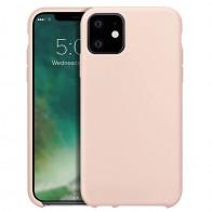 Xqisit Siliconen iPhone 11 Hoesje Roze - 1