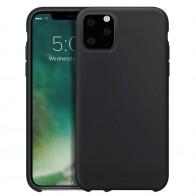 Xqisit Siliconen iPhone 11 Hoesje Zwart - 1