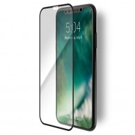 Xqisit Edge-to-Edge iPhone XR Screen Protector Transparant Zwart 01
