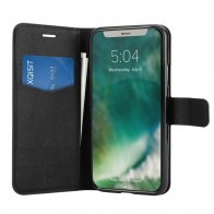 Xqisit Wallet Case Viskan iPhone XS Max Hoesje Black 01