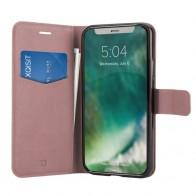 Xqisit Wallet Case Viskan iPhone XS Max Hoesje Roze 01