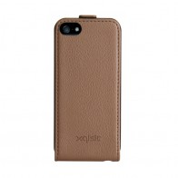 Xqisit Flipcover iPhone 5 Brown - 1