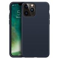 Xqisit Silicone Case iPhone iPhone 13 Pro Blauw 01