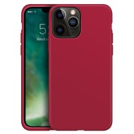 Xqisit Silicone Case iPhone iPhone 13 Pro Rood 01