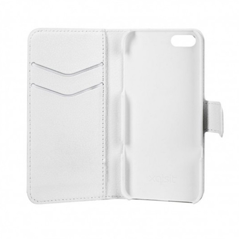 Xqisit - Slim Wallet Case iPhone SE / 5S / 5 White 05