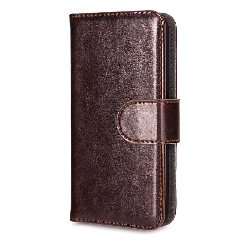 Xqisit - Wallet Case Eman iPhone SE / 5S / 5 Brown 04