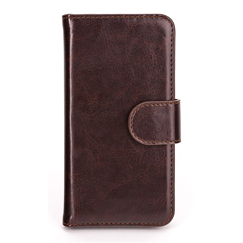 Xqisit - Wallet Case Eman iPhone SE / 5S / 5 Brown 02