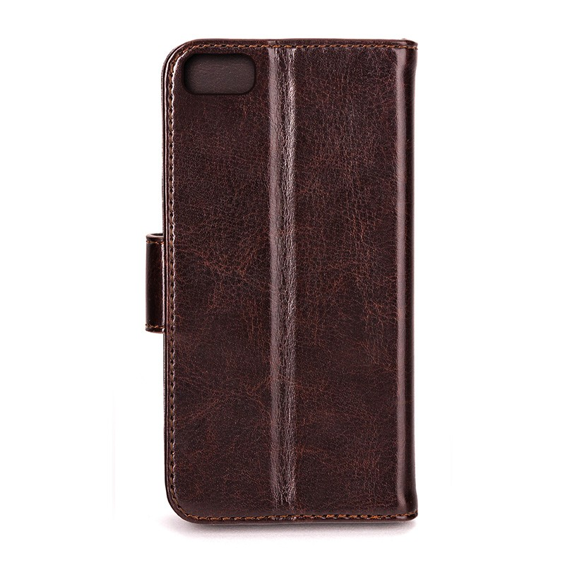 Xqisit - Wallet Case Eman iPhone SE / 5S / 5 Brown 03