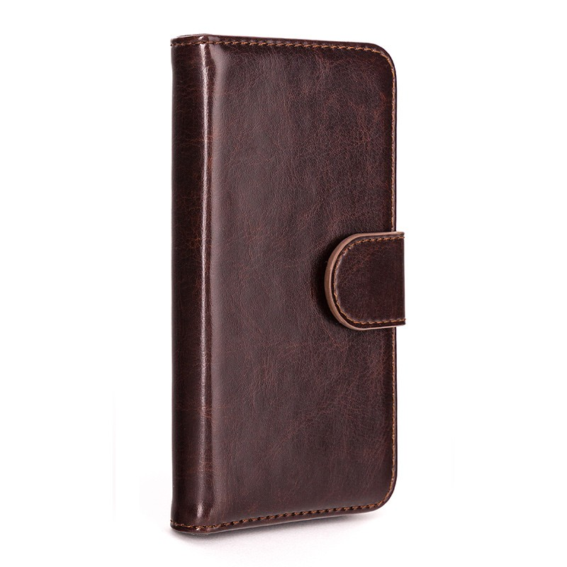 Xqisit - Wallet Case Eman iPhone SE / 5S / 5 Brown 01