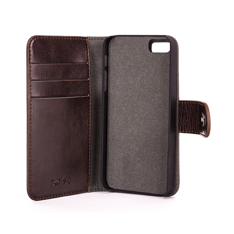 Xqisit - Wallet Case Eman iPhone SE / 5S / 5 Brown 05