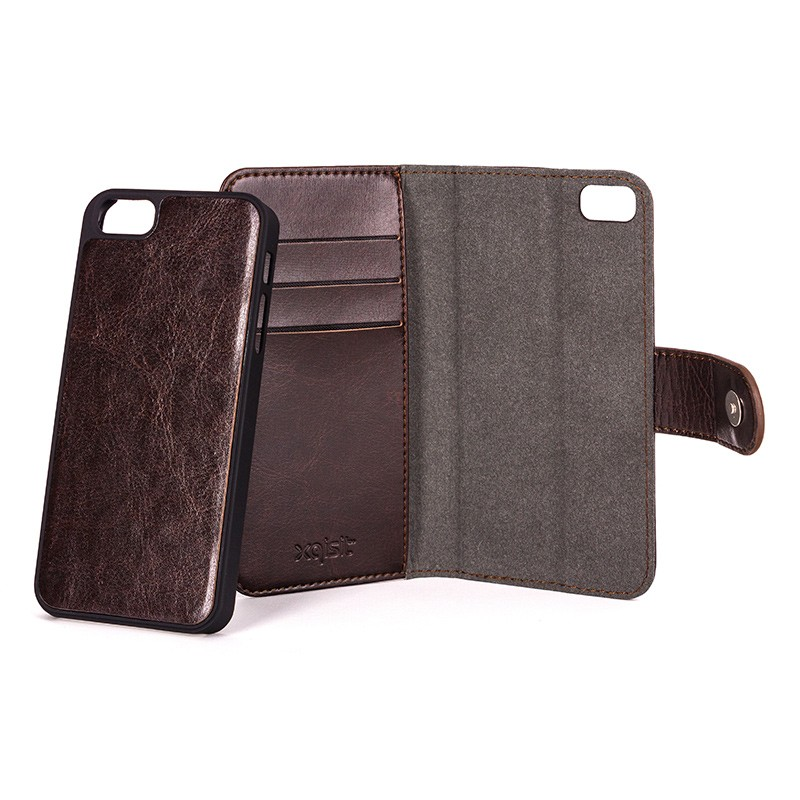 Xqisit - Wallet Case Eman iPhone SE / 5S / 5 Brown 06