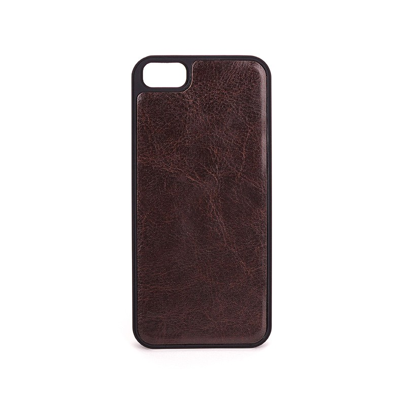 Xqisit - Wallet Case Eman iPhone SE / 5S / 5 Brown 09