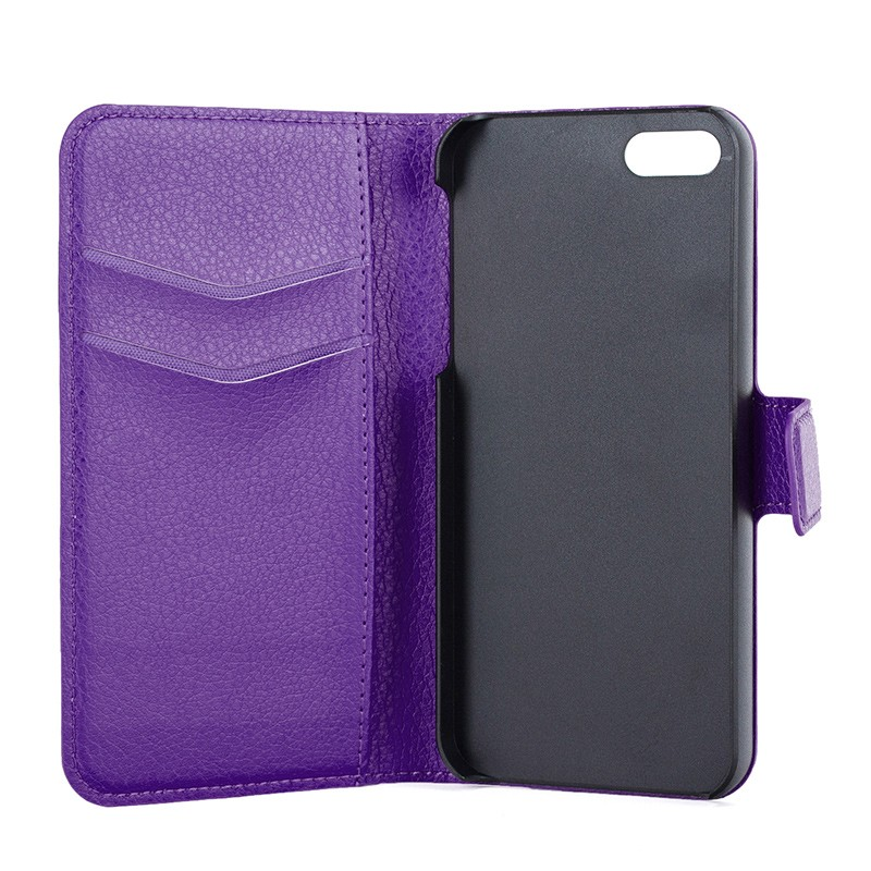 Xqisit - Slim Wallet Case iPhone SE / 5S / 5 Purple 07