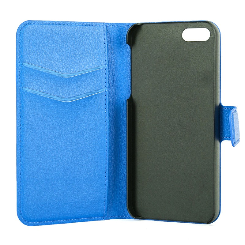 Xqisit - Slim Wallet Case iPhone SE / 5S / 5 Blue 07