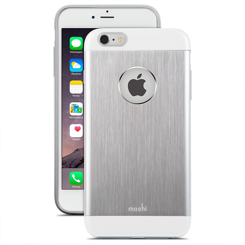 Moshi - iGlaze Armour iPhone 6 Plus / 6S Plus Silver 01