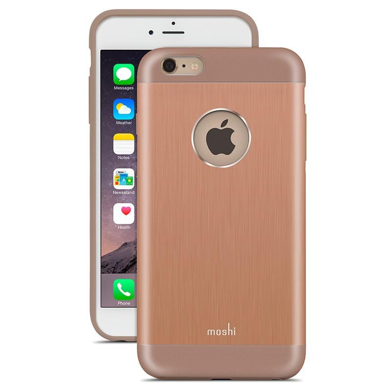 Moshi - iGlaze Armour iPhone 6 Plus / 6S Plus Copper Pink 01