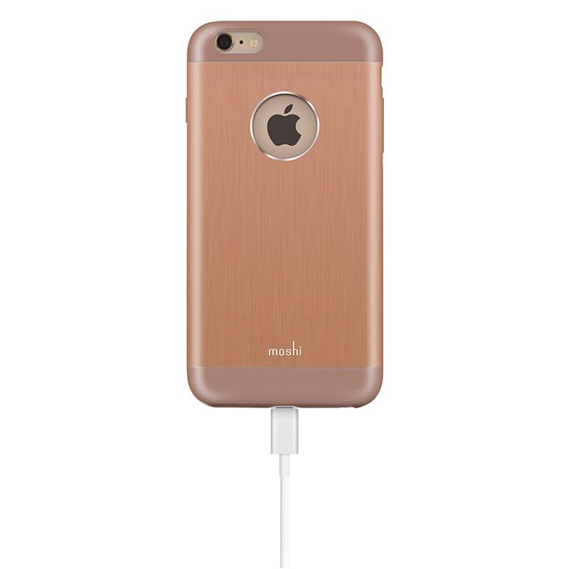 Moshi - iGlaze Armour iPhone 6 Plus / 6S Plus Copper Pink 04