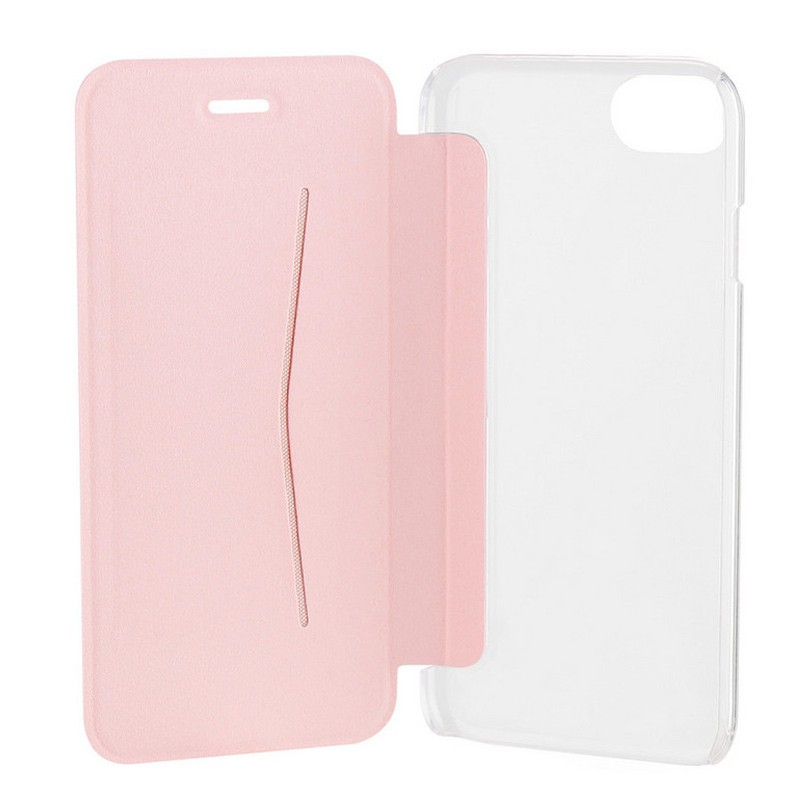 Xqisit Flap Cover Adour iPhone 7 hoes RoseGold 06