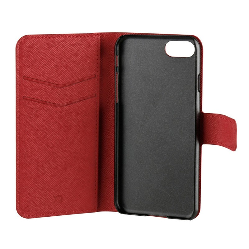 Xqisit Wallet Case Viskan iPhone 7 rood 05