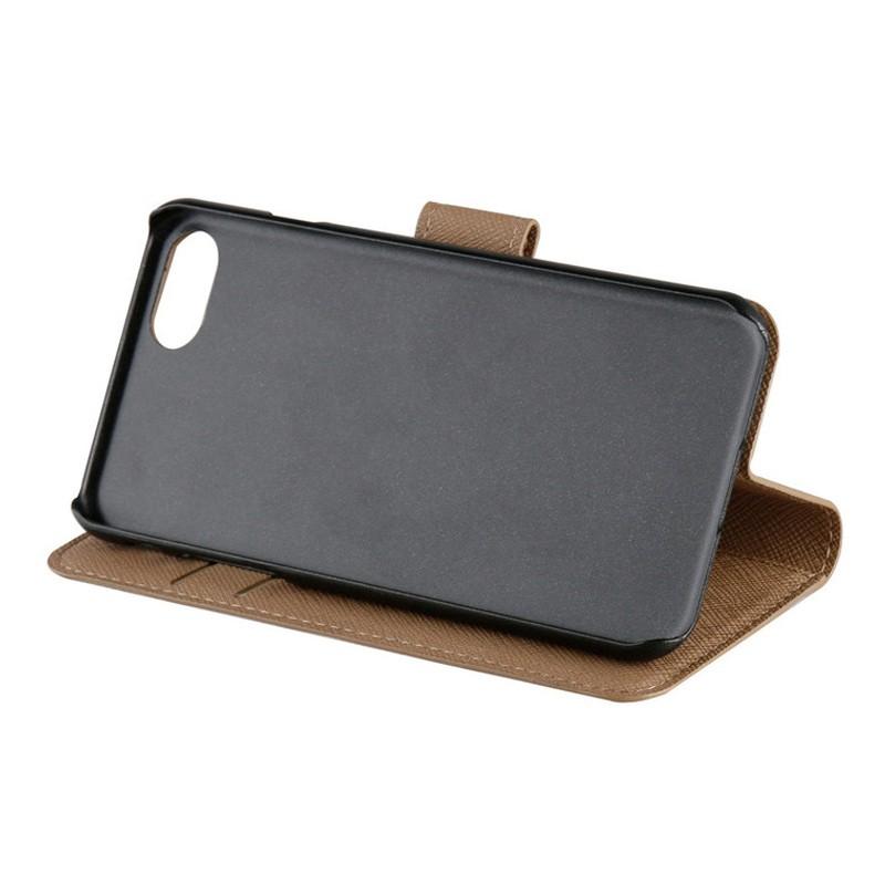 Xqisit Wallet Case Viskan iPhone 7 camel 06