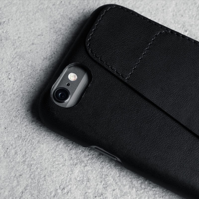 Mujjo Leather Wallet Case 80 iPhone 6 Black - 2