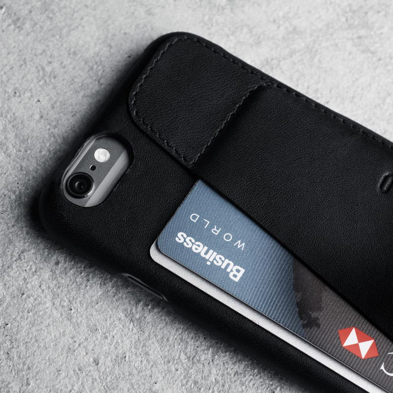 Mujjo Leather Wallet Case 80 iPhone 6 Black - 5