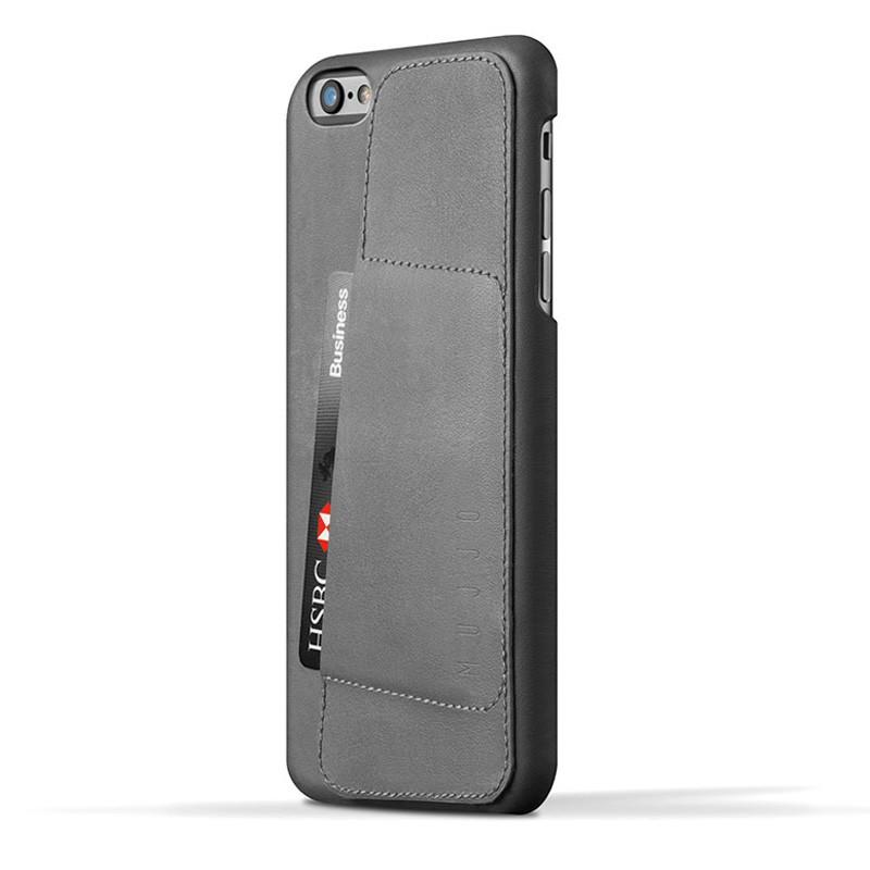 Mujjo Leather Wallet Case 80 iPhone 6 Plus Grey - 1